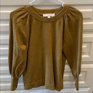 Loft olive/gold sweater